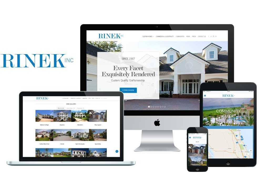 Rinek Website On Devices Logo